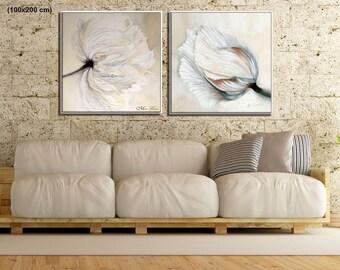 Canvas Set, Wall Art Set, Large Wall Art, Canvas Art Set, Modern Art Print, Large Canvas Set, Modern Art, Canvas Flowers Wall Art
