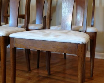 Mid Century Broyhill Brasilia Set of Six Dining Chairs