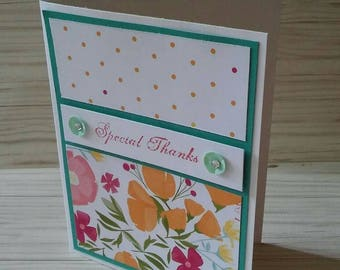 Special Thanks card, thank you, appreciation, blank note card
