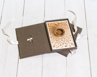 "6x9"" Presentation box for 10 photos - USB Packaging - USB Box - Wedding Photography Packaging - Wedding USB box - Handmade"