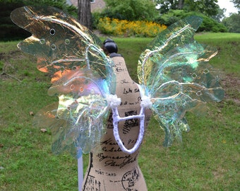 Wearable Iridescent Fairy Wings for Adult, costume, angel, wedding FREE SHIPPING