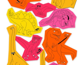 Dinosaurs In The City - Print