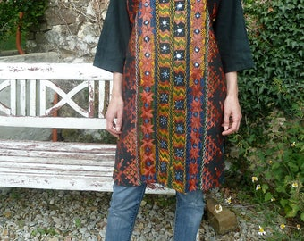 Vintage indian dress tunic Rajasthan embroideries S-M