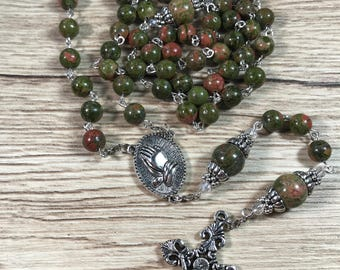 Natural Unakite Gemstones  Beads  Rosary