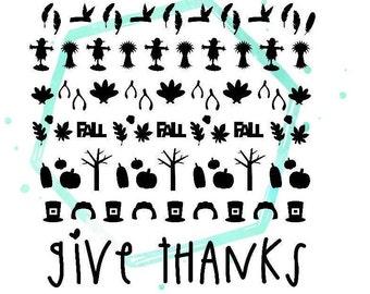Thanksgiving Vinyl Nail Stickers