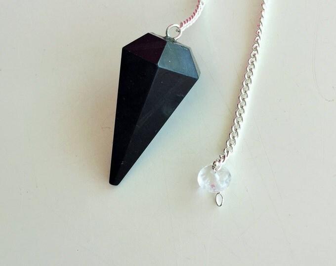 Black Tourmaline Pendulum Great Protection AMULET / Powerful Stone