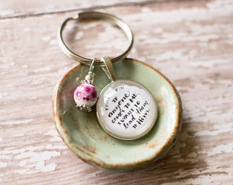 Christian Keychain, Edith Stein Lead Them to Christ Quote Keyring, Religious Keychain, Christian Gifts for Her, 402059