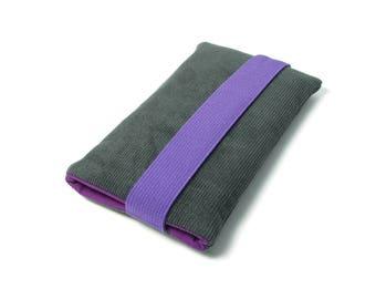 Samsung Galaxy S8+ Case, Samsung Galaxy S8 Plus Sleeve - Fabric, Cotton, Gray Corduroy