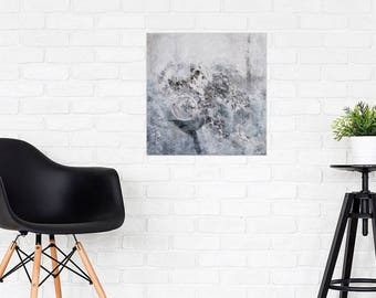 Original Abstract black and white Acrylic Painting  Monochrome Painting Minimalism Painting Contemporary Art Acrylic Painting Artwork