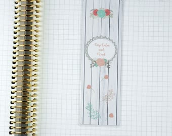 Laminated Keep Calm and Read Floral Timber Look Bookmark