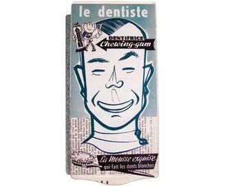Retro decorative wall plaque: the dentist in the 50's