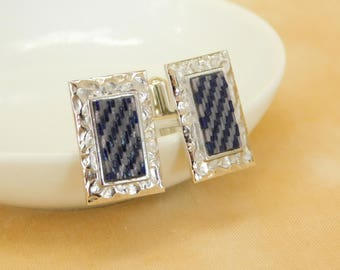 Cuff links geometric micro mosaic