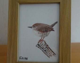 Hand painted Wild bird collection - Little Wren