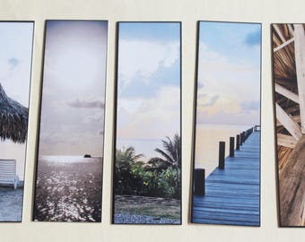Tropical Island Bookmarks ** Set of 5 **