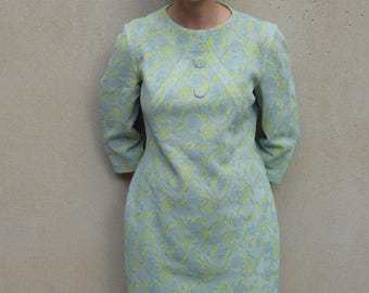 Vintage Walter Kibby crimplene dress, 1960s