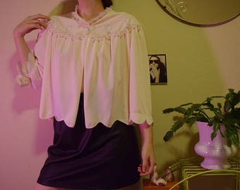 80's Baby Pink Bed Jacket