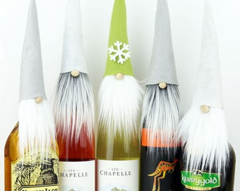 Wine Toppers SET of FIVE ~ Wine Party Gift ~ Liquor Gifts