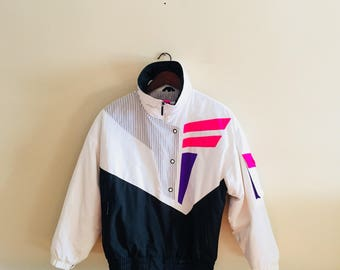 Vintage Head Tyrolia Neon Ski Jacket. Women's Ski Jacket. 1980s Ski Jacket. Snowboarding.