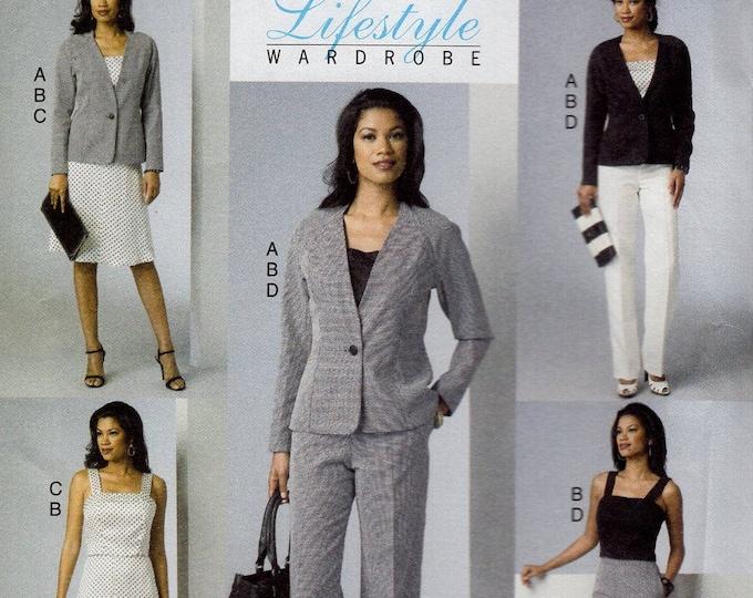 Free Us Ship Sewing Pattern Butterick 6030 Lifestyle Wardrobe Top Pants Jacket Size 6/14 14/22 Bust 30.5 31.5 32.5 34 36 38 40 42 44
