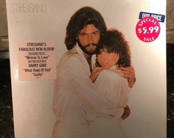 "Barbra Streisand - ""Guilty with Andy Gibb"" - 1980 - Sealed New NOS Vintage Vinyl Record LP - Free Shipping"