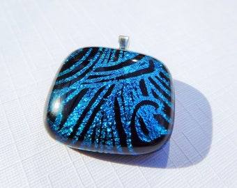 Echoes - beautiful handmade dichroic glass pendant