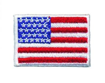 Mini American Flag Patch - United States of America USA (Iron on)