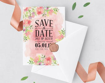 Save the Date Invitation | Save Date Botanical, Save Date Summer, Save Date Spring, Botanical Invite, Tropical Theme, Save Date Invite