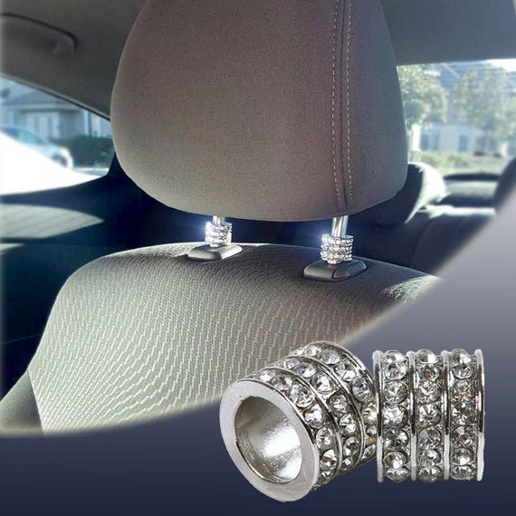 icy crystal car seat headrest collar charms rhinestone. Black Bedroom Furniture Sets. Home Design Ideas