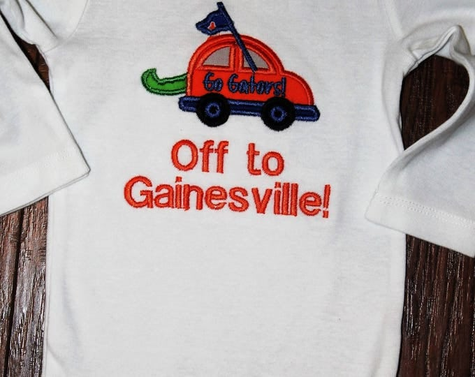 UF Gator baby shirt,Florida Gators girl bodysuit, Gator boy bodysuit or shirt,University of Florida Gators,New baby gift, baby shower gift