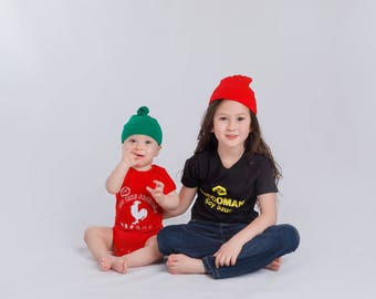 Sibling Matching Outfits, Soy Sauce Sriracha Outfit Combo for Siblings, Big Brother Little Brother, Big Sister Little Sister