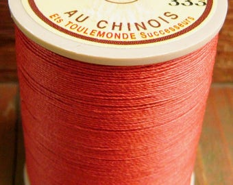 Fil Au Chinois, 532 Size, Copper/Cuivre, Lin Cable/Lin Câblé. Waxed Linen Thread for Leatherwork and More.