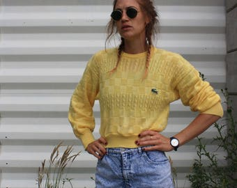 Lacoste remake crop sweater