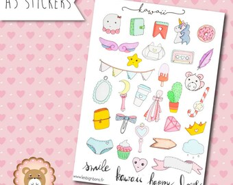 "Planners Stickers ""Kawaii"""
