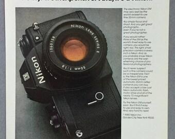 1980 Nikon ME Print Ad - Camera Ad