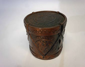Vintage 1776 Continental Currency Military Drum Coin Bank, Reproduction, Bicentennial, Liberty Bell, United States,