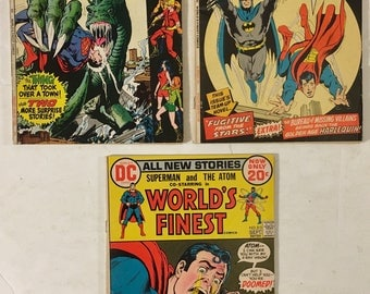 World's Finest Comics #s 205, 211, and 213 Superman, The Atom, Teen Titans, Batman FN Condition - 1971 to 1972 Bronze Age DC Comic Books