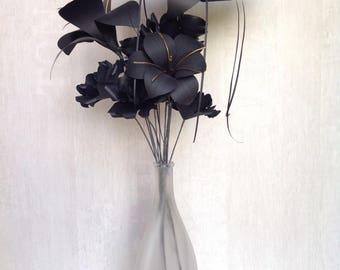 Gothic Paper Flower Bouquet with Bat Flower