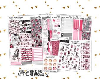 Vertical Sticker Kit | Weekly Sticker Kit | Planner Sticker Kit | Planner Stickers | Character Stickers | Sticker Kit