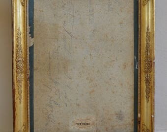Beautiful French Antique Wooden Frame from La Belle Epoque, French, Painting, Old, Wood, Home Decor, Style, Interiors, Gold Frame