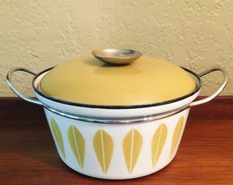 Mid Century CathrineHolm Lotus Enamel Dutch Oven Pot
