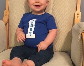 First Birthday Boy Shirt, One Year Birthday Shirt