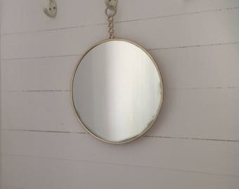 Round mirror hanging from the 50s to hang vintage mirro round mirror round mirror