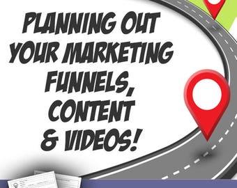 Customer Journey Marketing Worksheet, For Bloggers, Video Makers, Small Business Marketing Worksheets, Marketing Planning, Bonus Video