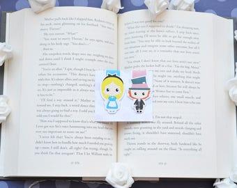Alice in wonderland magnetic bookmark