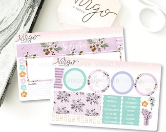 September 2017 Notes Page Kit -  September Monthly Sticker Kit - September Monthly Note Kit Glossy/Matte Stickers N709