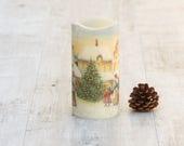 Vintage Christmas, Primitive Christmas, Christmas Candle, Vintage Candle, Primitive Candle, Vintage Decor, Primitive Decor, Victorian Decor