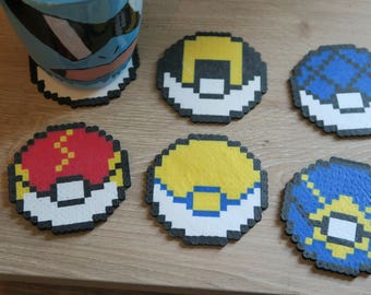 Pokemon Pokeball Coasters