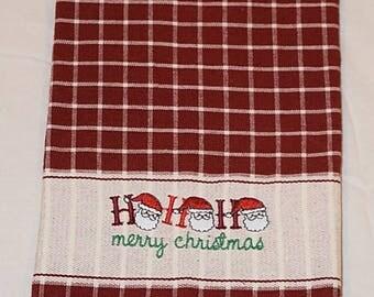 Ho Ho Ho Merry Christmas kitchen towel