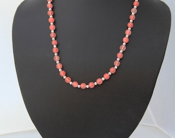 Faceted Watermelon Tourmaline Necklace