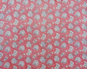 "Dressmaking Fabric, Floral Print, Pink Fabric, Sewing Supplies, Indian Fabric, 43"" Inch Chiffon Fabric By The Yard ZBCH177A"